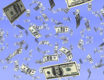 Money from heaven Royalty Free Stock Photos