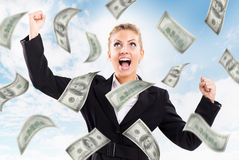 Money from Heaven royalty free stock images