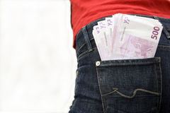 Money in the hip-pocket Royalty Free Stock Photo