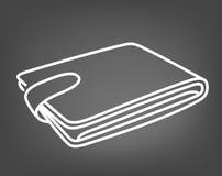 Money holder. Purse icon. Wallet sign. Flat line design. Vector illustration Stock Images
