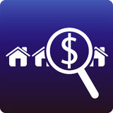 Money for home. Looking for payment for home vector illustration