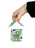Money home and hand Royalty Free Stock Photos