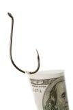 Money on hook Stock Photo