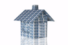 Money house. Made of 500 kr banknote Royalty Free Stock Photo
