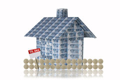Money house. Made of 500 kr banknote royalty free illustration