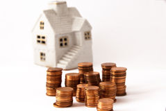 Money for house royalty free stock image