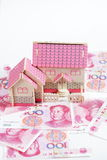 Money for house Royalty Free Stock Photos