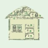The money house. A house that shows its worth Stock Image