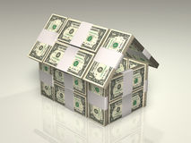 Money - house Royalty Free Stock Photo