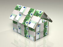 Money - house Royalty Free Stock Images
