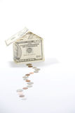 Money House. A house made of fifty dollar bills Royalty Free Stock Images