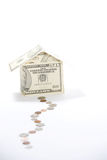 Money House. A house made of fifty dollar bills Royalty Free Stock Photo