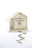 Money House. A house made of fifty dollar bills Stock Image