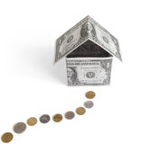 Money house. Object over white Royalty Free Stock Image