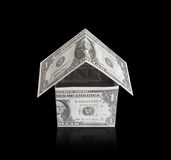Money house. Object over white Stock Photos