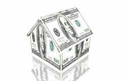 Money house. Isolated in white background Stock Photos
