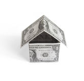 Money house. Object over white Royalty Free Stock Photos