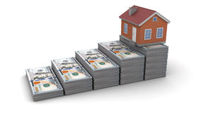 Money and house Royalty Free Stock Photo