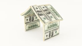 Money house. With the american dollars Royalty Free Stock Photos