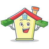 With money house character cartoon style Stock Images