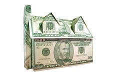 Money House Clipping Path Stock Image