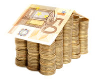 Money house with coin Royalty Free Stock Photos