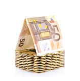 Money house with coin isolated Stock Images