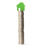 Money house from coins Royalty Free Stock Photography