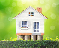 Money house from the coins. Mortgage concept by money house from the coins Stock Images