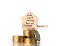 Money house from coins Stock Photos