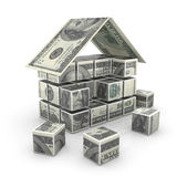 Money house. This is a computer generated and 3d rendered picture Royalty Free Stock Photography