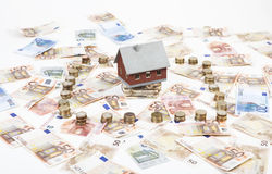Money for house construction Royalty Free Stock Image