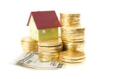 Money for house Royalty Free Stock Images