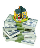 MONEY HOUSE HOME Royalty Free Stock Image