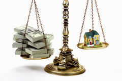 MONEY AND HOUSE ESTATE PLANNING Stock Photo