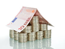 Money house - insurance and banking Royalty Free Stock Photos