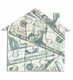 Money house jigsaw Stock Image