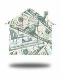 Money house jigsaw Royalty Free Stock Image
