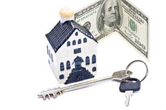 Money, house and key Stock Photography