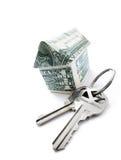 Money house keys Stock Photos