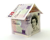 Money, house Pounds stock image