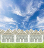 Money house suburb stock illustration