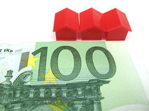 Money and houses Royalty Free Stock Photos