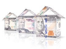 Money Houses Royalty Free Stock Images