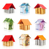 Money houses collection Stock Photo