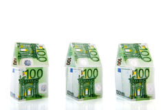 Money houses in a row Royalty Free Stock Image