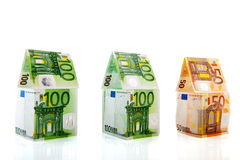 Money houses in a row Stock Images