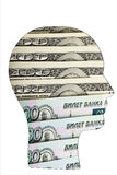 Money in the human mind. Concept Royalty Free Stock Photo