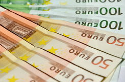 Money. Hundred and fifty Euro bills Stock Photography