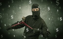 Money hungry thief. Royalty Free Stock Photo